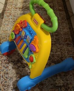 Fisher Price Brilliant Basics multicolor Musical Activity Walker for baby VG+