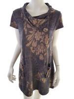 STELLA MORGAN Women's Dress Size 16 (44) brown flowers floral