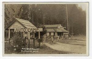 1928 Cascade Resort Auto Camp McKenzie Drive Rainbow Lane County Oregon RPPC