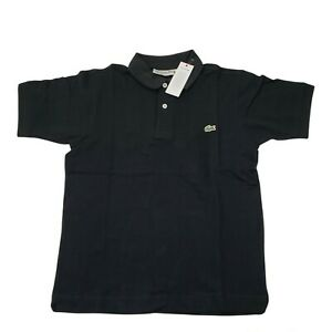NEW Lacoste Classic Fit 6/XL  Extra Large Mens Polo Shirt Short Sleeve Black