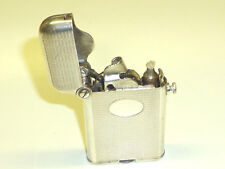 THORENS ART DECO semi-automatic lighter-SILVER PLATED-Single Claw - 1920-Swiss