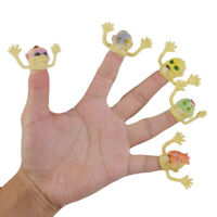 24x Plastic Fright Ghost Head Finger Puppets Party Stocking Filler Hand Toys