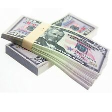 YooQn $5000 Full Print New Style Money Copy of $50 Dollar Bills Stack in Auth...