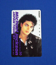 Japan Telephone Card MICHAEL JACKSON Japan Tour 1987 Promo. Limit 3,000 Copies