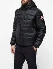 Canada Goose Lodge Slim Fit Packable Men's Black Hooded Jacket Size 2XL XXL