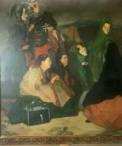 excellent painting,oil on old canvas,masterpiece of old painter,signed P.PICASSO