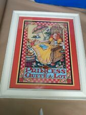 """Mary Engelbreit The Princess Of Quite A Lot Large Framed Print 24"""" x 20"""" Euc"""