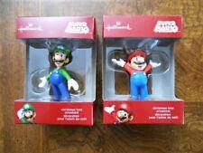 2017 Hallmark Nintendo Super Mario Bros. Christmas Tree Ornament MARIO LUIGI MIB