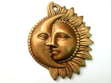 SUN MOON Wall Hanging Metal Brass Wall Decor Art Sculpture