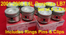 6.6L Duramax LB7 Pistons 2001-2005 Standard Size Right &Left side w/ rings Set 8