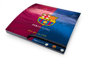 FC Barcelona Playstation 3 Slim Console Skin Sticker Official Barca PS3 Item New