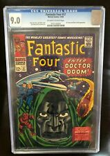 Fantastic Four #57 CGC 9.0 OW-W Pgs, 12/66, Dr Doom & Silver Surfer Appearance