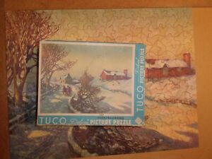 Vintage jigsaw puzzle Tuco 350+ CompleteHomeward Bound in the Snow interlocking