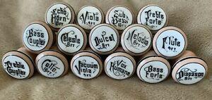 WOW 15 Porcelain Drawer Pulls Cabinet Door Knobs Victorian Pump Reed Organ Draw