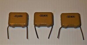 3 pieces 0.22uF 630V ITT-GB capacitor  for Valve Amplifier