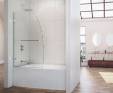 "DREAMLINE 34"" x 58"" AQUA UNO FRAMELESS 1/4"" GLASS TUB SHIELD DOOR"