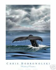 "NEW! Whale Fluke 18x24"" Art Print Poster by Dobrowolski"
