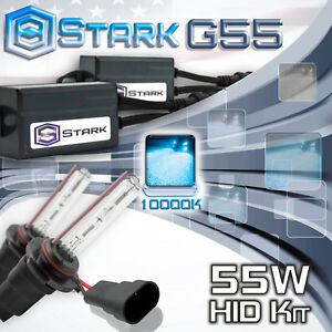 Stark 55W Micro HID High Beam Slim Xenon Kit - 9005 HB3 10K 10000K Blue (Y)