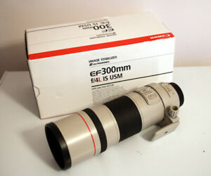 Canon EF 300mm f4 L IS USM - Lens Boxed cw case & tripod mount