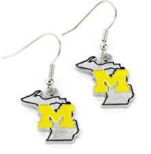MICHIGAN - STATE DESIGN LOGO - DANGLE EARRINGS - BRAND NEW NCAA - CCP-ER-469-13