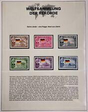 Liberia 1958 6 Länder mit deutscher Flagge Fehldruck Weltsammlung der Rekorde **