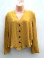 Ladies Ex NEW LOOK Mustard Blouse Top Sizes 8-16 *NEW*
