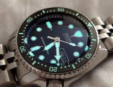 "SEIKO SKX007, SKX009, and SKX173 ""MM 300 STYLE"" FULLY LUMED CERAMIC BEZEL INSERT"
