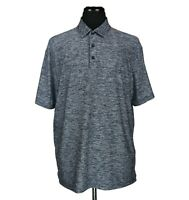 Under Armour S/S Golf Polo Shirt HeatGear Heather Dark Blue Men's Size XL