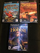 Lot Of 3 Ps2 Games- Escape From Monkey Island, Test Drive Off Road, The Hobbit