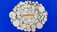Wooden Circles Laser Cut MDF Blank Embellishments Craft Decorations Shapes