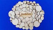 Wooden Circles Laser Cut MDF Blank Embellishments Craft Decorations Shapes