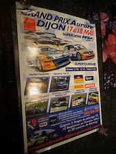 Ancienne Affiche Grand Prix Aurore Dijon Prenois Peugeot Seat
