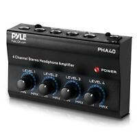 4-Channel Portable Stereo Headphone Amplifier - Professional Multi Channel Mini