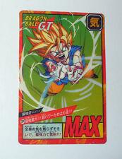 RARE CARTE DRAGON BALL Z GT VERSION JAPONAISE BANDAI 1996 N° 764 VERSION MAX