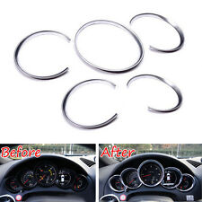 Chrome Instrument Speedometer Gauge Bezel Cover Trim Rings For 2011-2017 Cayenne