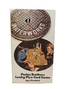 Vintage 1972 Waterworks Leaky Pipe Card Game Parker Brothers