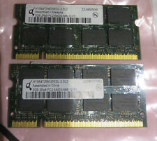 Qimonda 4GB (2 x 2GB Single Sticks) PC2-6400 666 DDR2 Sodimm Laptop RAM Memory