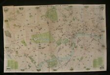 c.1908 Bacon's Picture Map of London - Very Decorative