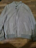 Brooks brothers suede Bomber jacket sz L