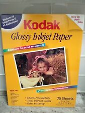 "Kodak Inkjet Glossy Photo Paper 8.5"" x 11"" 75 Sheets"