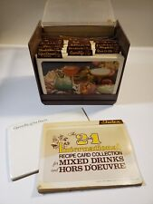 2 in1 1977 International Recipe Card Collection box b7