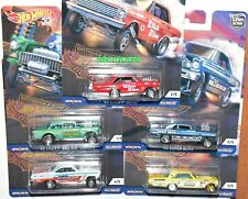 HOT WHEELS 2018 CAR CULTURE DRAG STRIP DEMONS SET OF 5 GASSER CHEVY NOVA DODGE