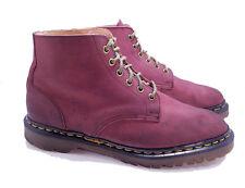 Dr. Martens Doc England Rare Vintage Burgundy Nubuck TNT 6 Eye Boots UK 9 US 10