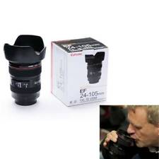 Camera Lens Mug Canon EF 24-105mm Tea Coffee Cup Drinking Plastic Holder w/ Lid