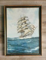 Montague Dawson Print In Heavy Frame. Seascape Print. Framed.
