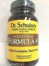Dr Schulze's Intestinal Formula #1 Organic Colon Bowel Cleanse 90 capsules