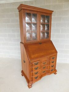 Maddox Cherry Chippendale Style Block Front Slant Top Desk