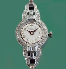 Vintage 1920's-30'S  PATEK PHILIPPE Platinum Diamonds Bracelet Ladies Watch