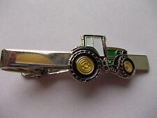 GREEN FARMERS TRACTOR TIE PIN CLIP WEDDING/STAG NIGHT XMAS