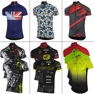 Mens Cycling Jersey Short Sleeve Breathable Summer Bike Cycling Top